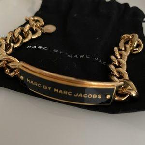 Marc Jacobs Enamel Bracelet in Black/Gold